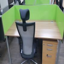 시스템 책상 셋트(책상+이동+의자+파티션)